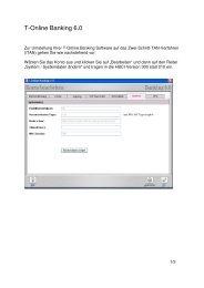Umstellung auf iTAN in der T-Online Software 6.0 - VR-Bank Bayreuth