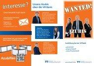 Download Azubi-Flyer - VR Bank Flensburg-Schleswig eG