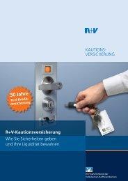 Kundenbroschüre Kautionsversicherung - Volksbank Remseck eG
