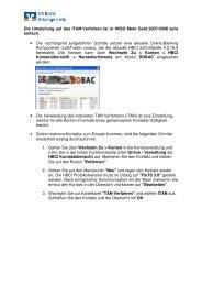 Umstellung 2-Schritt WISO_Mein_Geld - VR Bank Kitzingen eG