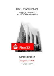 HBCI Profilwechsel - VR Bank Kitzingen eG
