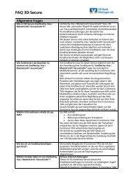 FAQ's - VR Bank Kitzingen eG