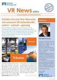 #vr news extra sofortkredit - VR Bank Kitzingen eG