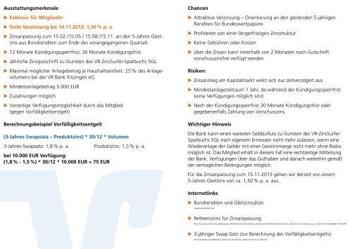 """""""Meine Bank gehört mir!"""" - VR Bank Kitzingen eG"""