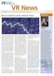 Bei uns sind Sie auf der sicheren Seite! - VR Bank Kitzingen eG
