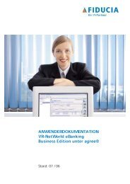 Bedienerhandbuch eBanking Business - VR Bank Kitzingen eG