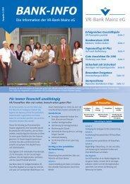 Kundenzeitschrift 1.2010 - VR-Bank Mainz