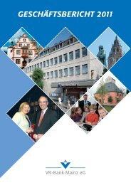 Geschäftsbericht 2011 - VR-Bank Mainz