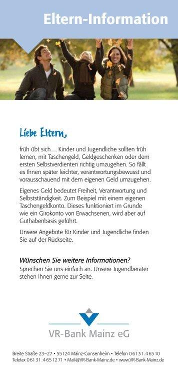 Elterninfo - VR-Bank Mainz