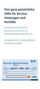 auch zu den Versicherungsleistungen der GoldCard. - VR-Bank Mainz - Page 2