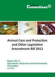 Animal Care and Protection and Other Legislation Amendment Bill 2012