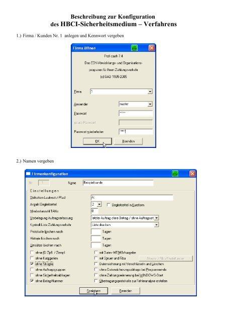 HBCI-ProfiCash-Diskette-mit manuellem update 1 - VR Bank ...