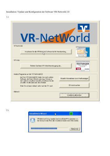 Installation / Update und Konfiguration der Software VR-Networld ...