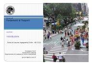 Fondamenti di Trasporti Introduzione - DICA