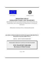(PON) Trasporti 2000−2006 - Ministero delle Infrastutture e Trasporti ...