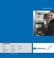 Jahresbericht 2008 - Volksbank eG, Syke