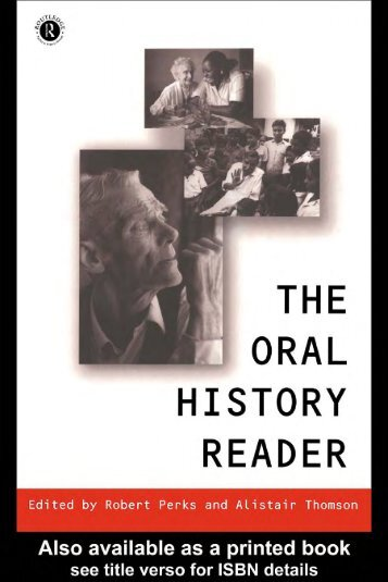 The Oral History Reader - History and its Publics in a Digital Age