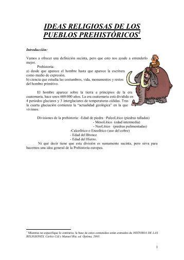 ideas religiosas de los pueblos prehistóricos 1 - Área de Enseñanza ...