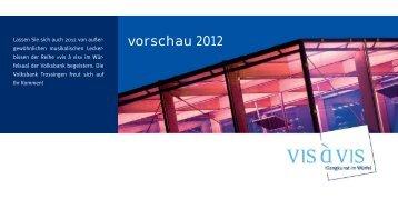 vorschau 2012 - Volksbank Trossingen eG
