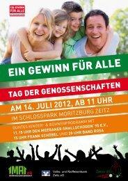 tag der genossenschaften am 14. juli 2012, ab 11 uhr - und ...