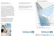Flyer zum Thema Kontoauszug Online (PDF) - VR Bank Lausitz eG