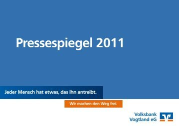 Pressespiegel 2011 - Volksbank Vogtland eG