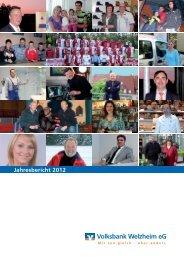 Jahresbericht 2012 - Volksbank Welzheim eG