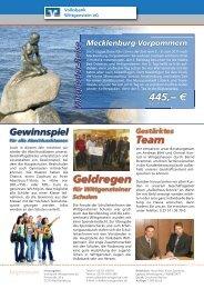 Geldregen - Volksbank Wittgenstein eG