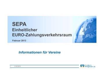 Informationen für Vereine - Volksbank Wittgenstein eG
