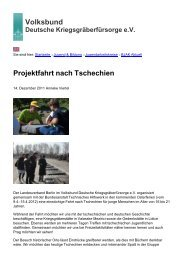 Volksbund Projektfahrt nach Tschechien - Volksbund Deutsche ...