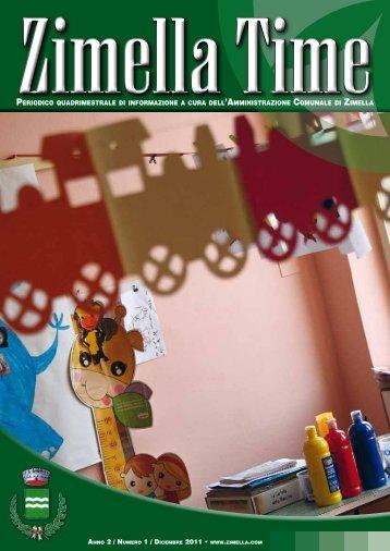 Zimella Time numero 2 dicembre 2011 - Comune di Zimella