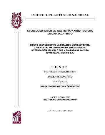 ingeniero civil - Tesis en el IPN - Instituto Politécnico Nacional