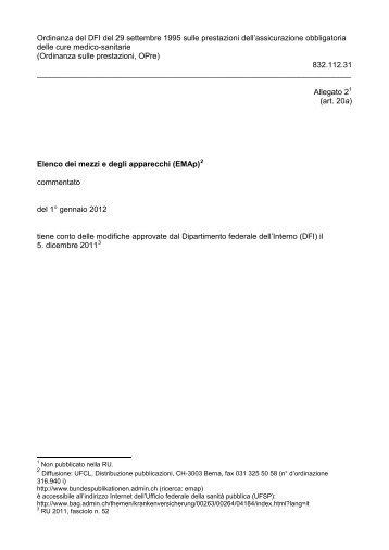 Elenco dei mezzi e degli apparecchi (EMAp) - admin.ch