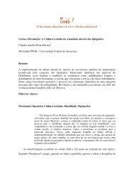 II Seminário Brasileiro Livro e História Editorial
