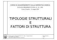 tipologie strutturali e fattori di struttura - Regione Piemonte