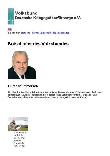 Volksbund Botschafter des Volksbundes - Volksbund Deutsche ...