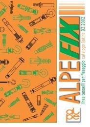 catalogo listino 03.2002 linea tasselli per fissaggio - ALPE FIX