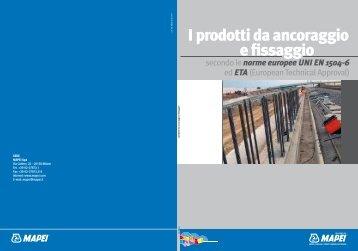 I prodotti da ancoraggio e fissaggio - Mapei