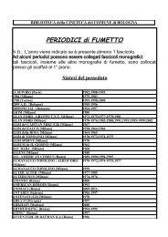 fumetto - Cineteca di Bologna