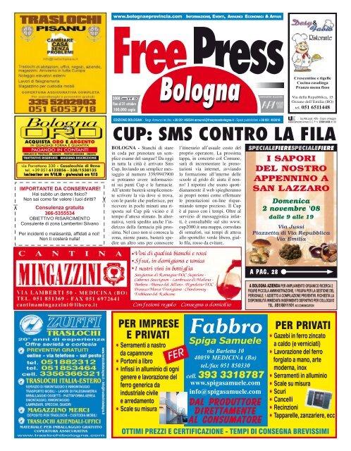 Nuova Fonte Del Materasso Bologna.Cup Sms Contro La Fila Free Press Bologna