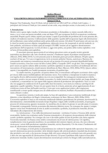 Andrea Micocci - Università degli studi di Bergamo