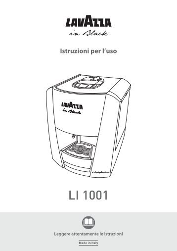 Manual prezentare expresor cu capsule Lavazza LB 1100
