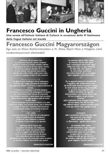 Francesco Guccini in Ungheria Francesco Guccini Magyarországon