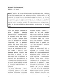 Rivalidade sufixal e polissemia - Centro de Linguística da ...