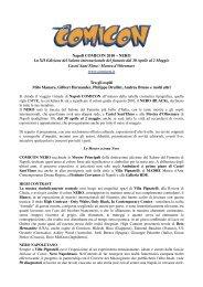 NERO La XII Edizione del Salone internazionale ... - Napoli COMICON