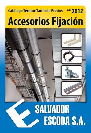 catálogo-tarifa de accesorios-fijación - Salvador Escoda SA