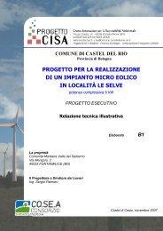 progetto per la realizzazione di un impianto micro ... - Centro CISA