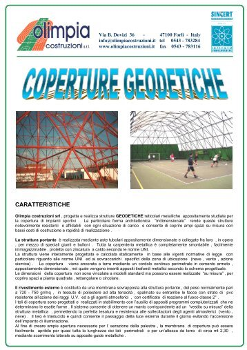 Copertura geodetica metallica - Olimpia Costruzioni S.r.l.