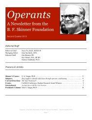 Operants