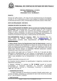 Minuta de Edital - Tribunal de Contas do Estado de São Paulo